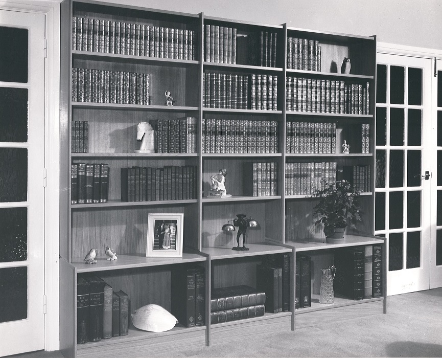 Sixties Built in Wall Shelving