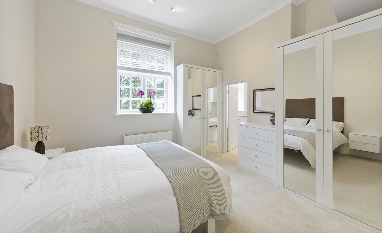 White Mirrored Painted Wardrobes