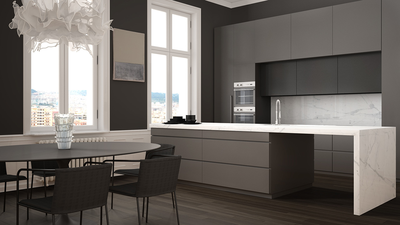 Basalt Two tone fitted kitchen