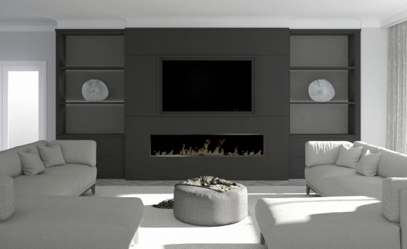 E-Design - TV Wall Unit Design