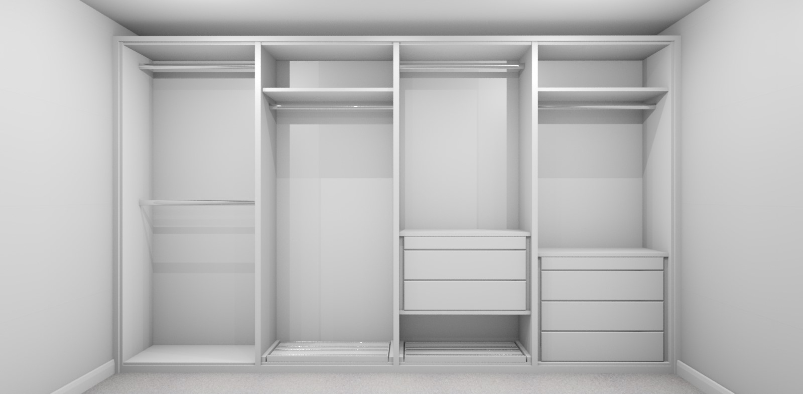 Internal Wardrobe Design Layout 4