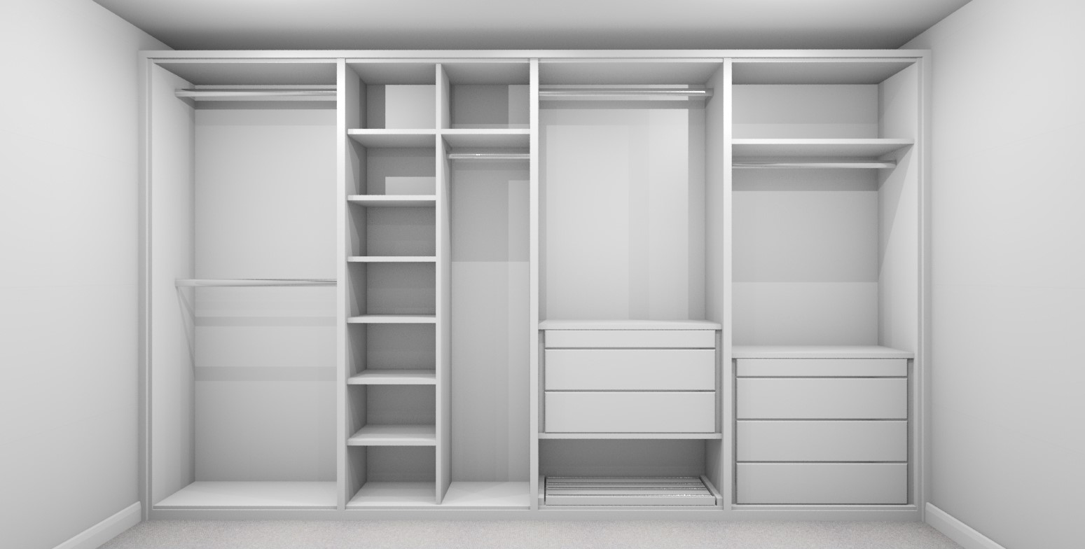 Internal Wardrobe Design Layout 3