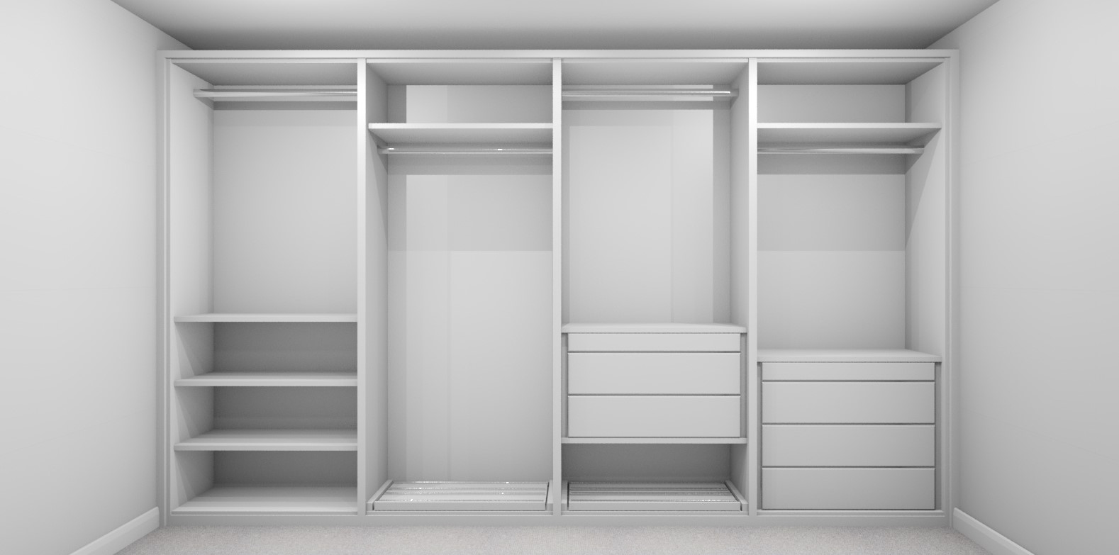 Internal Wardrobe Design Layout 2